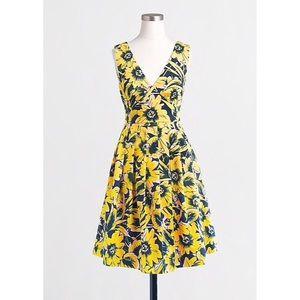 J. Crew Floral Piqué Dress